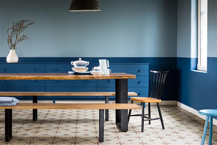 Denim drift is d kleur van 2017 laat u inspireren solvari for Kamer interieur inspiratie