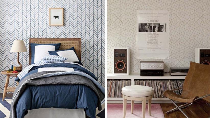Behang slaapkamer rustig beste inspiratie voor interieur design en meubels idee n - Behang grafisch ontwerp ...