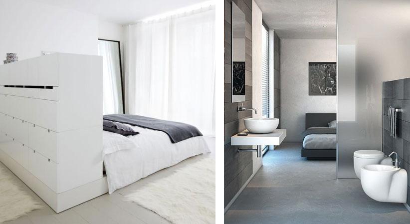 Roomdivider in je slaapkamer en d top 3 diy 39 s solvari - Slaapkamer met badkamer en dressing ...