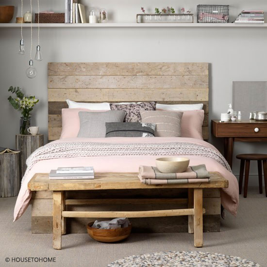 chambre coucher tons rose