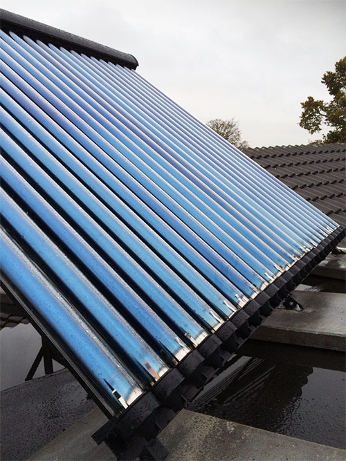 Zonneboiler op het dak